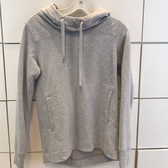 lululemon athletica Tops - Grey Lulu Lemon hooded sweater size 2, barely worn